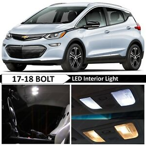 White Interior License Plate Led Lights Package For 2017 2018 Chevy Bolt