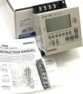 New Omron H5s wfb2 Digital Time Switch Weekly Timer 100 240vac 2 Output Relay