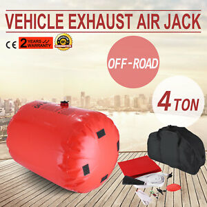 High Quality Dual Inflatable Jack Air 4t Car Truck Off Road Rescue Exhaust Pump