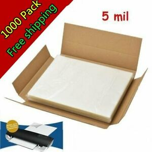 5 Mil 1000 Letter Size Clear Hot Laminator Laminating Pouches 9 X 11 5 Sheets