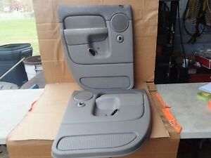 02 03 04 05 06 Dodge Ram Driver Passenger Rear Inner Door Panel Used Gray