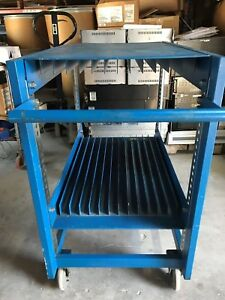 Bliss Industries Esd Safe Mobile Stencil Storage Rack 12 Slots