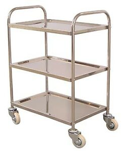 Luxor Utility Cart 26 X 16 X 35 Stainless Steel
