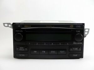 Toyota Matrix Radio And 6 Cd Changer 86120 02410 2004 2008 Oem