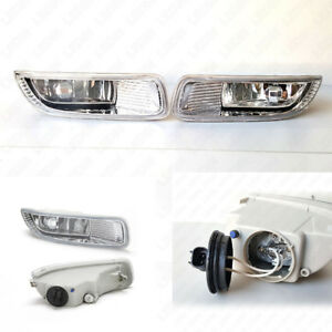 Fog Light Kit Set For 2003 2004 Toyota Corolla Clear Lens With Switch Bulbs Wire