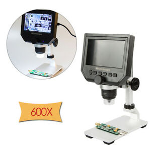 G600 Digital 4 3inch Hd Lcd Display Microscope Magnifier With Al alloy Stent