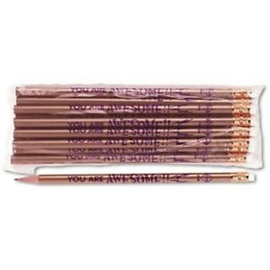 Decorated Wood Pencil You Are Awesome Hb 2 Gold Barrel Dozen 2 Pack