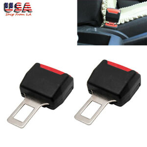 2x Car Safety Seat Belt Buckle Extension Alarm Eliminator Clip Fault Canceller