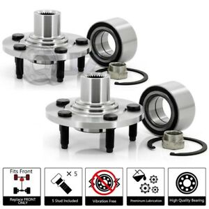 Pair Of Pt520100 Replacement Front Wheel Hub Bearing Spindle Snap Ring Nut