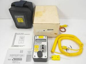Omega Cl 307 Thermocouple Calibrator Kc Type k Degree celcius W Cables Manual