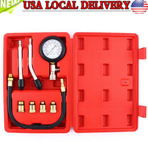 Pro Petrol Gas Engine Cylinder Compression Tester Gauge Kit For Motor Auto Car