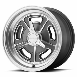American Racing Vn502 Rim 15x5 5x4 5 Offset 12 Mag Gray Machined Qty Of 1