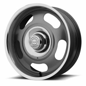 American Racing Vn506 Rally 1pc 17x9 5x120 65 5x127 Et0 Gray polished qty Of 4