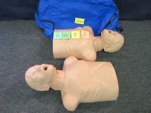 2 Cpr Prompt Training Torso First Aid Patient Simulator Adult Manikin Emt Used