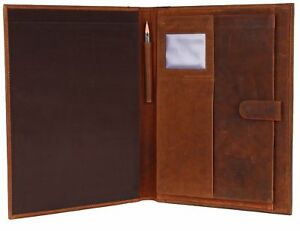 Handmade Leather Business Portfolio By Rustic Town Professional Organizer Men