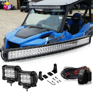 Radius Light Bar 40 In Polaris Rzr Rzr4 Crew Side By X Utv Combo Spot Flood Sxs