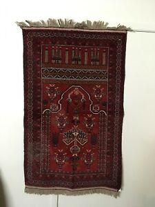 34 X 56 Handmade Afghan Ersari Wool Prayer Rug Wall Decoration Persian Rug