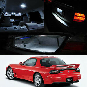 Mazda Rx7 Fd3s White Led Interior Bulb Package map Dome Trunk License Plate