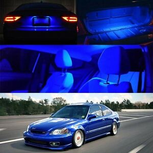 96 00 Civic Si Blue Led Bulb Interior Full Package Map Dome Trunk License Plate