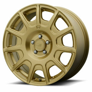 Motegi Mr139 Rim 15x7 5x100 Offset 15 Rally Gold quantity Of 1