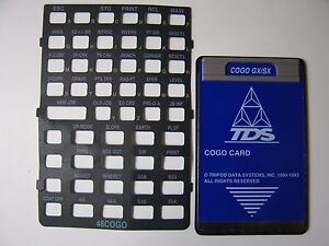 Tds Cogo Card For The Hp 48gx sx Calculator With Manual Overlay