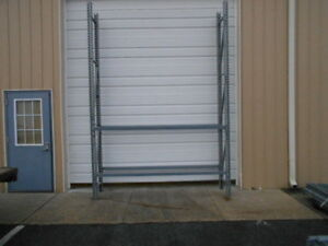 Used Teardrop Pallet Rack Shelving Unit Racking 24 Deep X 12 Tall