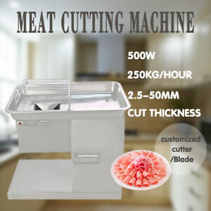 110v Meat Cutting Machine Meat Cutter Slicer 250kg With 2 5 20mm One Set Blade