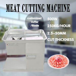 110v Meat Cutting Machine Meat Cutter Slicer 250kg With 2 5 20mm Two Sets Blade