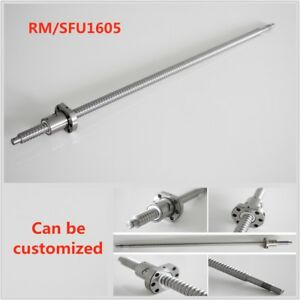 Rm sfu1605 Ball Screw L250 1500mm Ballnut C7 Ballscrew W Single Ballnut For Cnc