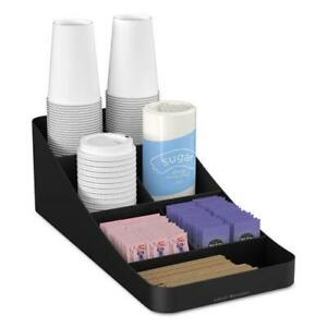 Mind Reader Trove 7 comp Coffee Condiment Organizer 7 3 4 X 16 X 5 1 4