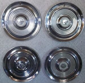 1954 To 1955 15 Inch Oldsmobile Hubcaps Wheel Covers Original Lot Of 4 Made Usa