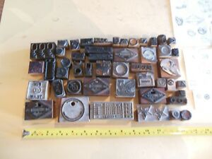 Lot Of 49 Vintage Cuts Printing Block Letterpress Blocks
