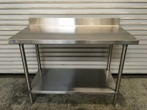 48 X 24 Work Table With Shelf Gsw 7126 Commercial All Stainless Steel Nsf