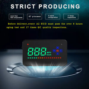 A2 Universal 3 5 Obd2 Car Hud Gps Head Up Display Speed Overspeed Warning Bg8u