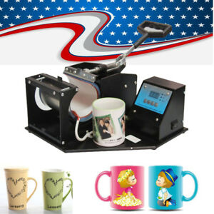 usa heat Press Transfer Sublimation Machine Dual Digital 8 3cm Cup Coffee Mug
