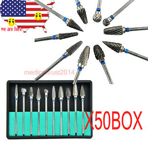 Usa 500pcs Autoclave Tungsten Steel Dental Burs Grinding Drill Burrs Dia 2 35mm