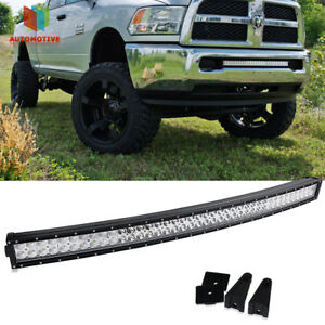 40 Curved Led Light Bar Grille Front Bumper Use 10 17 Ram 2500 3500 Chassis Cab