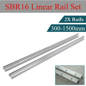 2x Sbr16 Linear Bearing Rail L300 1500mm Fully Supported Linear Rail For Cnc