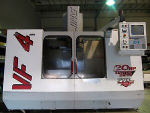 1998 Haas Vf 4 Cnc Mill 50 x20 Milling 4th axis Ready Thru spindle Coolant
