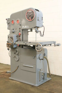 16 Thrt 12 H Doall 1612 3 Vertical Band Saw Vari speed Hyd tbl Feed Blade W