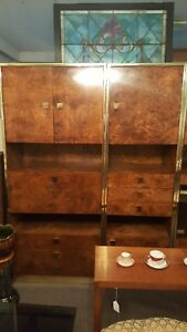 Mid Century Modern Rare Burled Wall Unit Founders Furniture