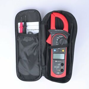 Digital Clamp Meter Multimeter Ac Dc Voltmeter Current Amp Volt Ohm Tester Pouch