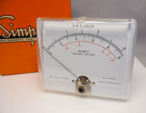 Nos Simpson 407 8a 4 5 Rms Volts Vu Meter W Original Box Free Shipping