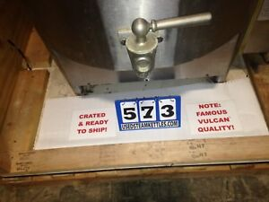 Vulcan 60 Gal Nat Gas Steam Kettle S s Cover 1 5 Inch Draw Off Valve 573