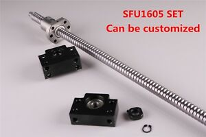 Ball Screw Sfu1605 L250mm 1550mm Lead Rod Machined Bf12 Bk12 End Support Cnc