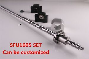 Cnc Ballscrew End Machined Sfu1605 With Nut Housing Bk bf12 Support 250 1550mm