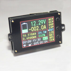 Wireless Voltmeter Ammeter Dc 120v500a Volt Amp Ah Soc Remaining Capacity Power