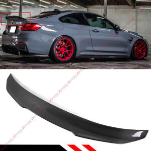 For 2015 19 Bmw F82 M4 Psm Style High Kick Carbon Fiber Trunk Lid Spoiler Wing