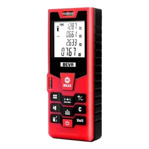Digital Laser Distance Measure High Accuracy Compact Multifunctional 196ft Red