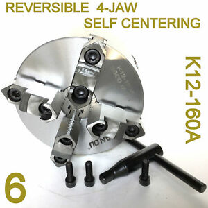 1 Pc Lathe Chuck 6 4 Jaw Self Centering Reversible Jaw K12 160a Sct888